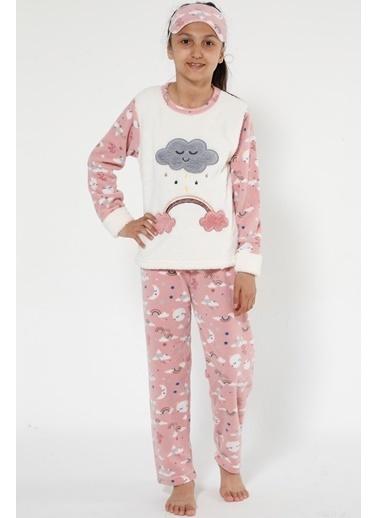 Akbeniz Welsoft Çocuk Pijama Takım Ekru